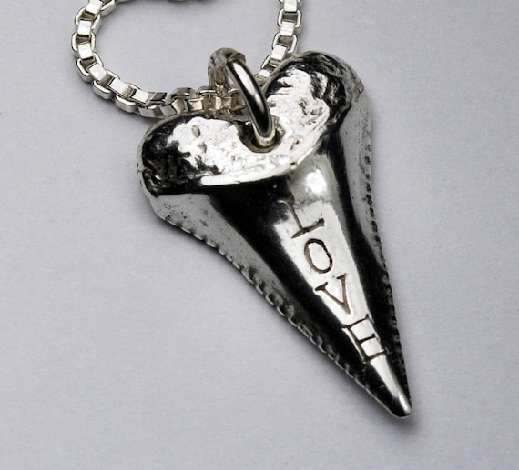 Sterling Silver LOVE Tooth Necklace