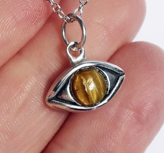 Large Sterling Silver Tiger's Eye Charm-Ready to ship.