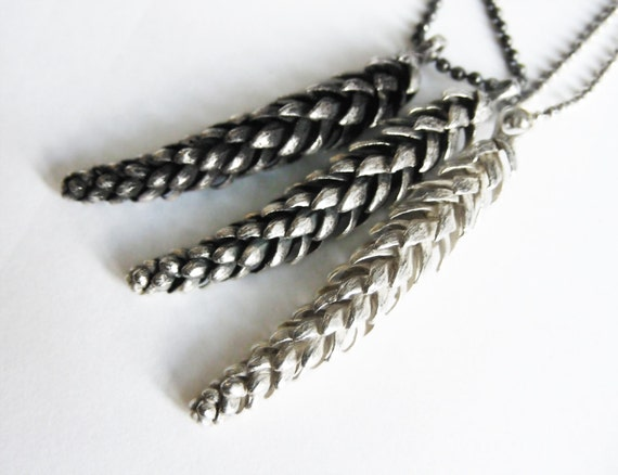 Sterling Silver Norfolk Pine Branch Necklace-Ready to Ship