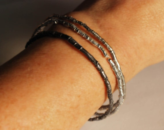 McCarren Park Sterling Silver Twig Bangle Bracelet