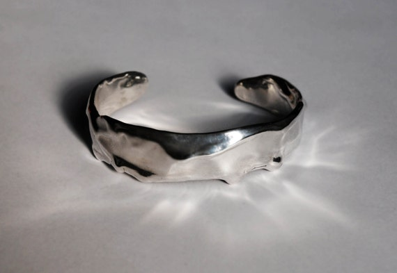 Sterling Silver Melt Cuff-Ready To Ship