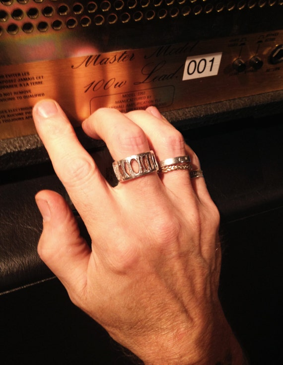 Norman's Silver Shark Vertebra Ring - Extra Wide Ladder