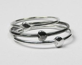 Silver Tiny Heart Ring