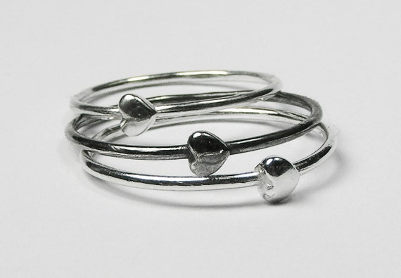Silver Tiny Heart Ring