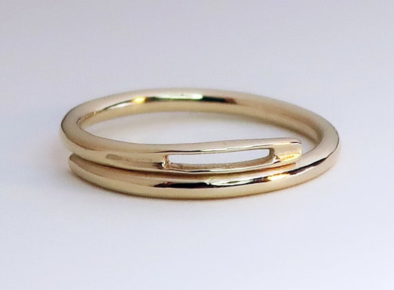 NEW! Solid Gold Thick Needle Ring