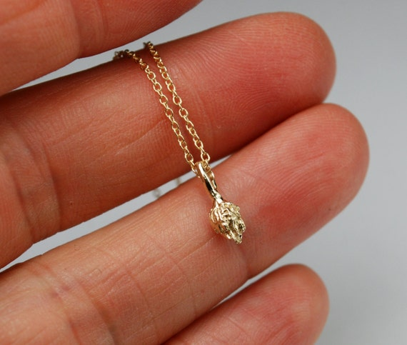 Gold NYC High Line- Tiny Tuft Charm Necklace