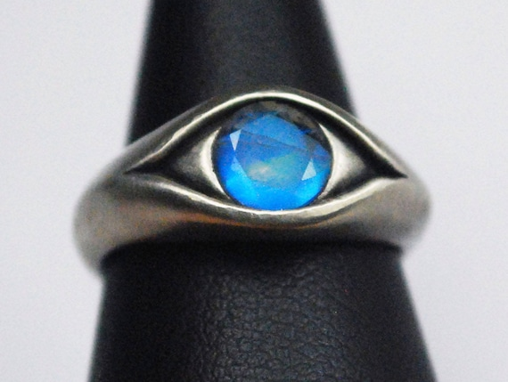 Sterling Silver Moonstone Blind Seer Eye Ring