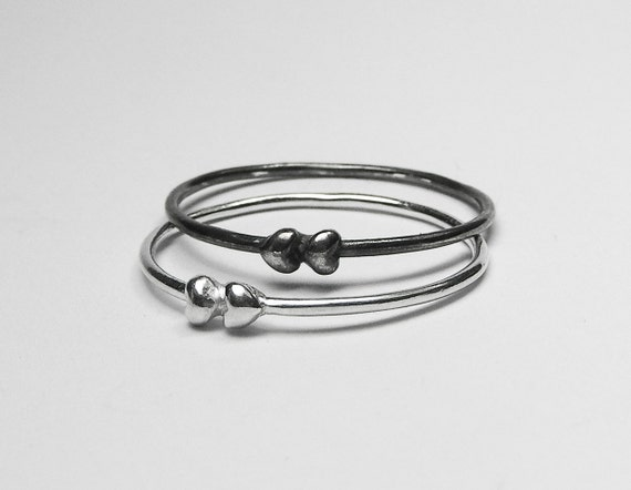 Silver Tiny Hearts Ring