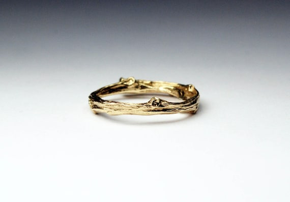 Tompkins Square Park Gold Twig Ring -closed circle-Ready to Ship