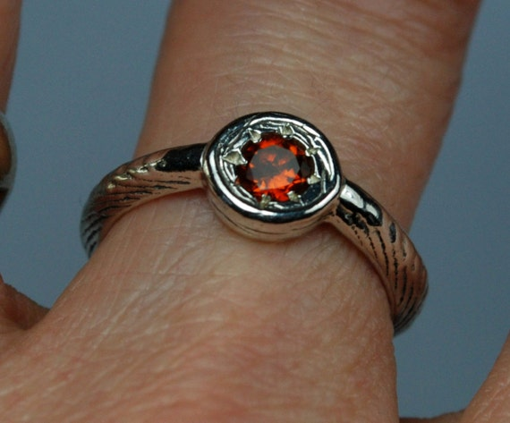 Stunning Garnet Solitaire Ring-Ready to Ship