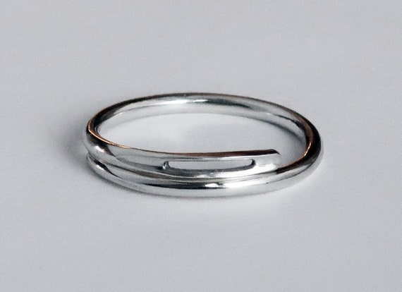 NEW! Solid sterling silver Thick Needle Ring