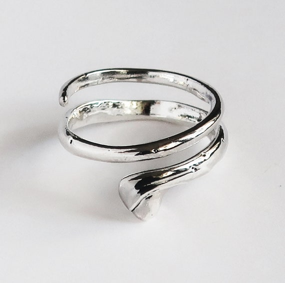 Sterling Silver Drip Wrap Ring #3-Ready to Ship