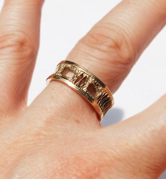 Gold Shark Vertebra Ring, Small, US size 6-Ready to Ship