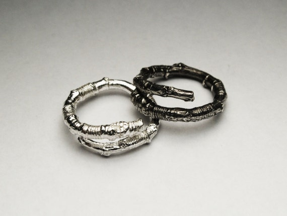McCarren Park Sterling Silver Twig Ring -open wrap-Ready to ship