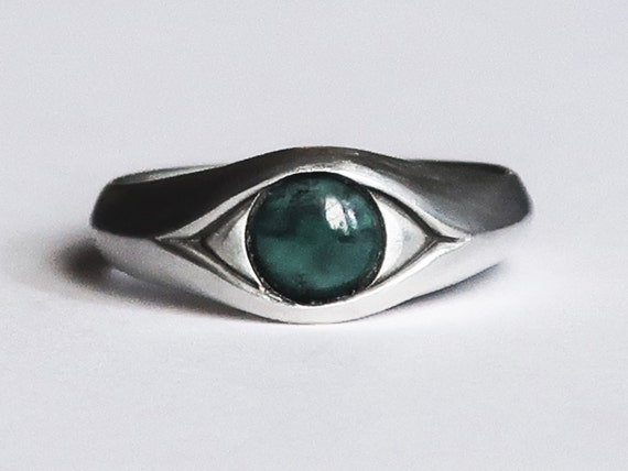 Large Sterling Silver and Tibetan Turquoise, Eye Ring-Ready to Ship