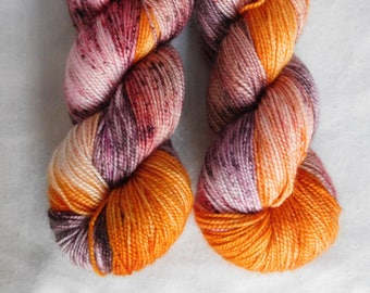 Autumn Leaves- Hand dyed Sock Yarn