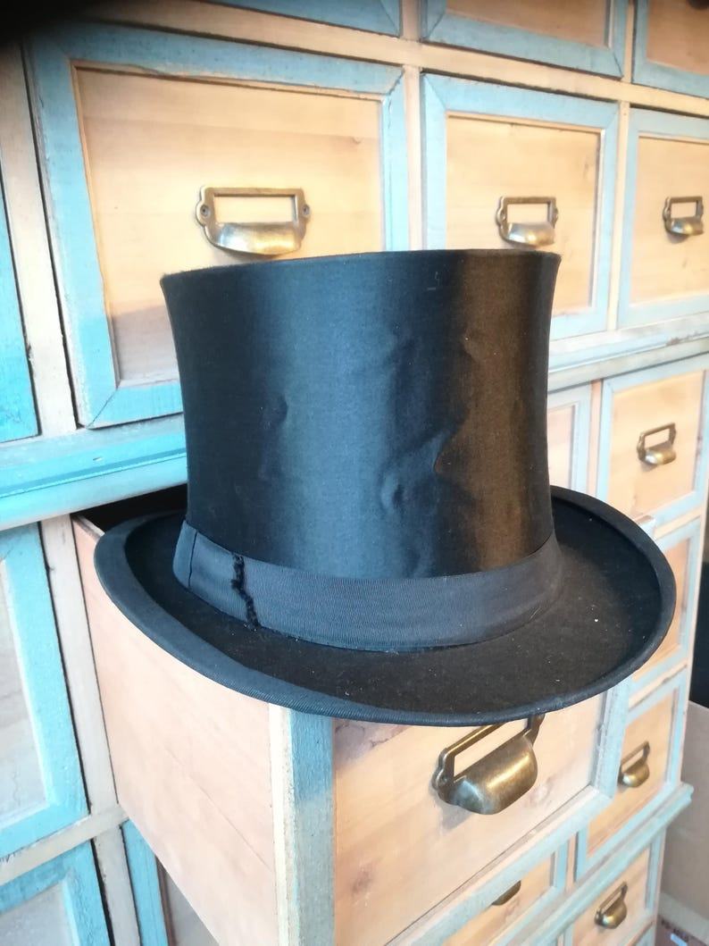 139a86248d2 Antique Collapsible Hat Top Hat Hat Opera Hat Chapeau Claque
