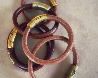Tobacco brown Leather Bracelet