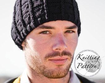 Knitting Pattern for Men's Hat - J.T.