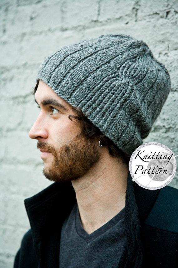 b4ff4304df0483 Knitting Pattern for Men's Hat Bartek | Etsy