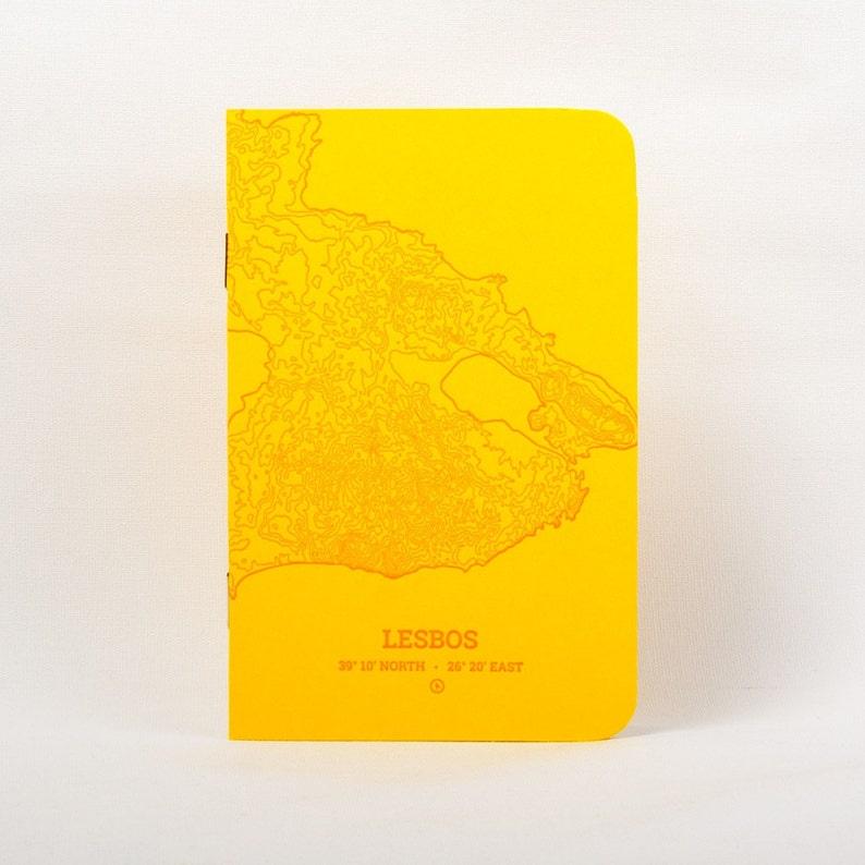Lesbos Island Letterpress Notebook Yellow image 0