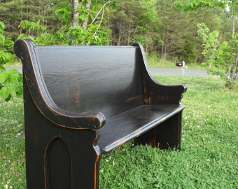 Wooden Church Pew Etsy