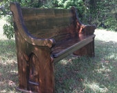 Stained (Jacobean) Wooden Church Pew