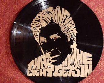 Leonard Cohen Vinyl Record Art   Silkscreen Vintage Art Record 12 inch Vinyl   Screenprint
