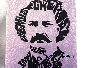 Louis Riel Poster Print | 8.5 x 11 | Hand Printed Silkscreen Screenprint Poster Wall Art