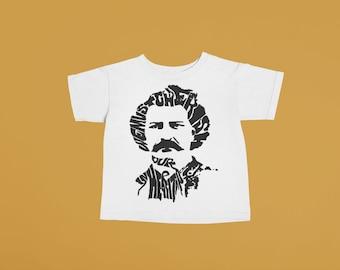 Louis Riel Baby or Kids Tshirt | Hand printed graphic tee unisex toddler baby kid