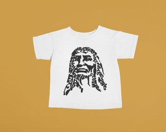 Chief Seattle Baby or Kids Tshirt | Hand printed graphic tee unisex toddler baby kid