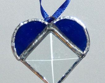 Tiny Heart Bevelled Suncatcher
