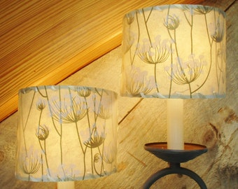 Ocean Chart Chandelier Lampshades, Wall Sconce Shades, Tiny Made to Order Nautical Map Shades