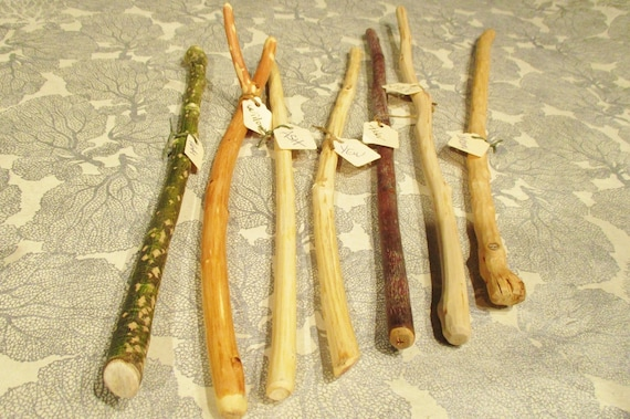 Hand Carved Wood Wands Sacred Celtic Woods Witch Wizard Etsy