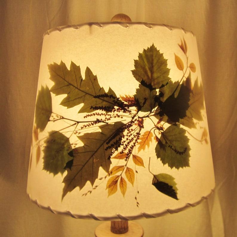 Oak Ash and Hawthorn Leaf Botanical Lamp Shade Pressed image 0