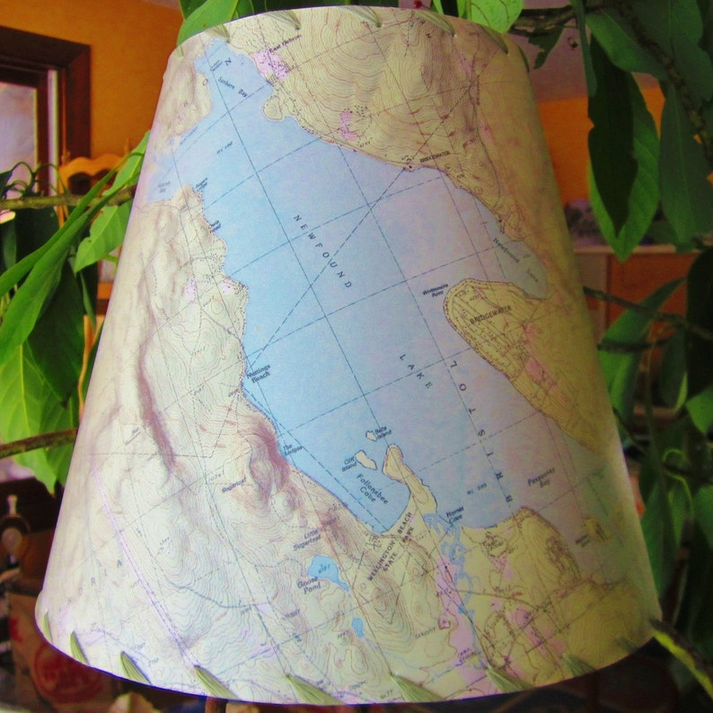 Custom Map Lamp Shade Made With Topographic Map Of Your Choice image 0