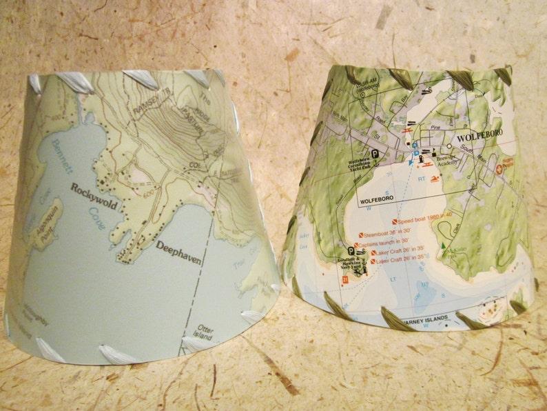 Winnipesaukee Custom Map Nightlight Squam Lake Chart Night image 0