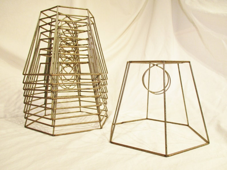 Hex Panel Lampshade Frame Small Clip On Lamp Shade Frame image 0