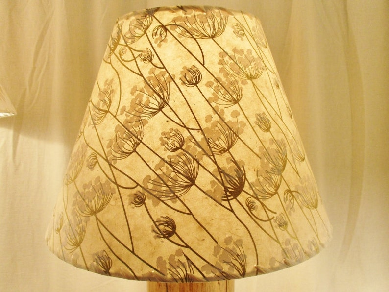Queen Anne's Lace Lamp Shade Silkscreened Paper image 0
