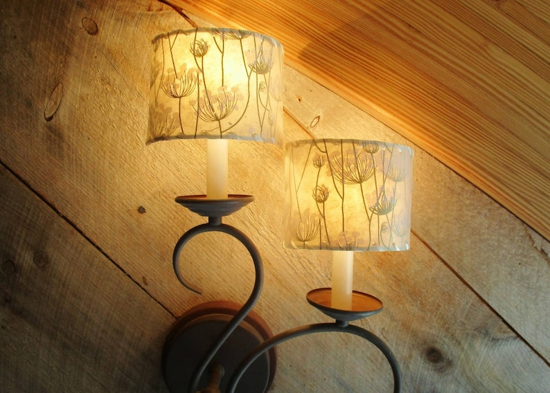 Sconce Shades Queen Anne's Lace Shield Lamp Shades image 0