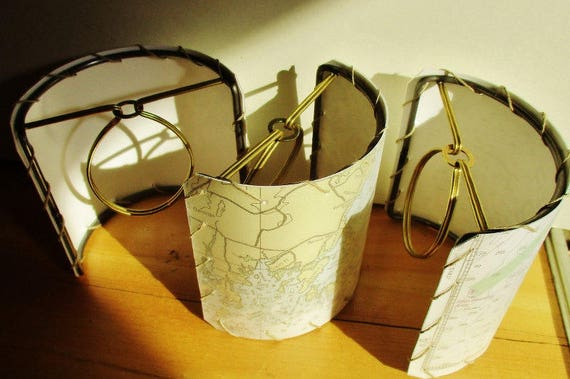 Half Shield Lamp Shade Frames, DIY Shield Lampshade for Boat Lighting Fixture, Wall Sconces and Chandeliers