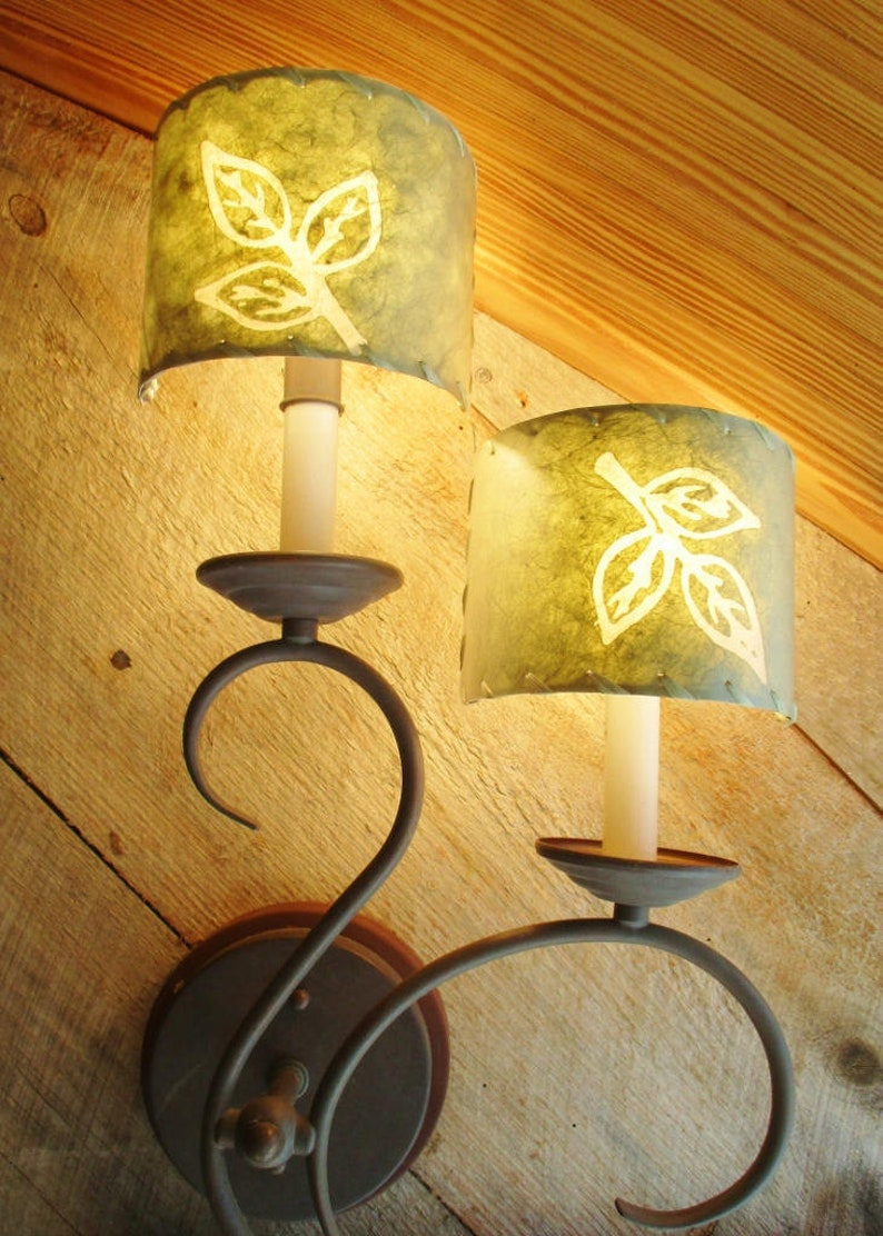 Wall Sconce Shades Chandelier Half Shades Batik Paper image 0