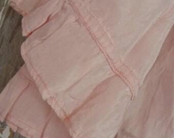 a03a126c438 ON SALE Antique Pink Handmade Silk Chiffon Baby Girl Doll Slip N06701