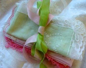 Antique Wedding and Vintage Hankies Gorgeous Bundle 068