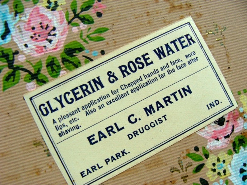6 Antique Rose Water Pharmacy and  Drug Co. 1940s image 0
