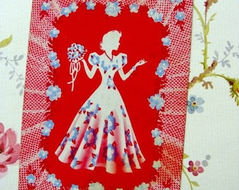Antique Frilly Silhouette Cards