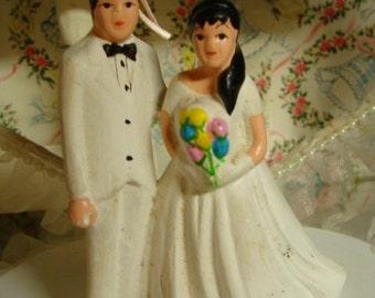 Vintage Hispanic Wedding/ Black-Tie Fancy Kitsch Cake Topper for the Romantic Sweetheart Valentine