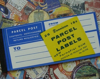 Vintage Gummed Unused  Dennison Postal Label Booklet