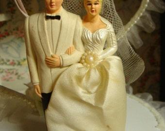 Vintage Wedding/ Black-Tie Fancy Kitsch Cake Topper for the Romantic Sweetheart Valentine
