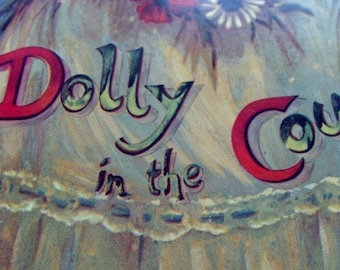 Vintage Story Book Dolly in the Country